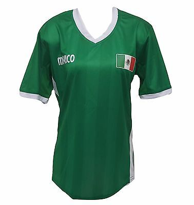 Mexico Soccer Women's Plus Size Jersey Exclusive Design - Soccer Flags Design