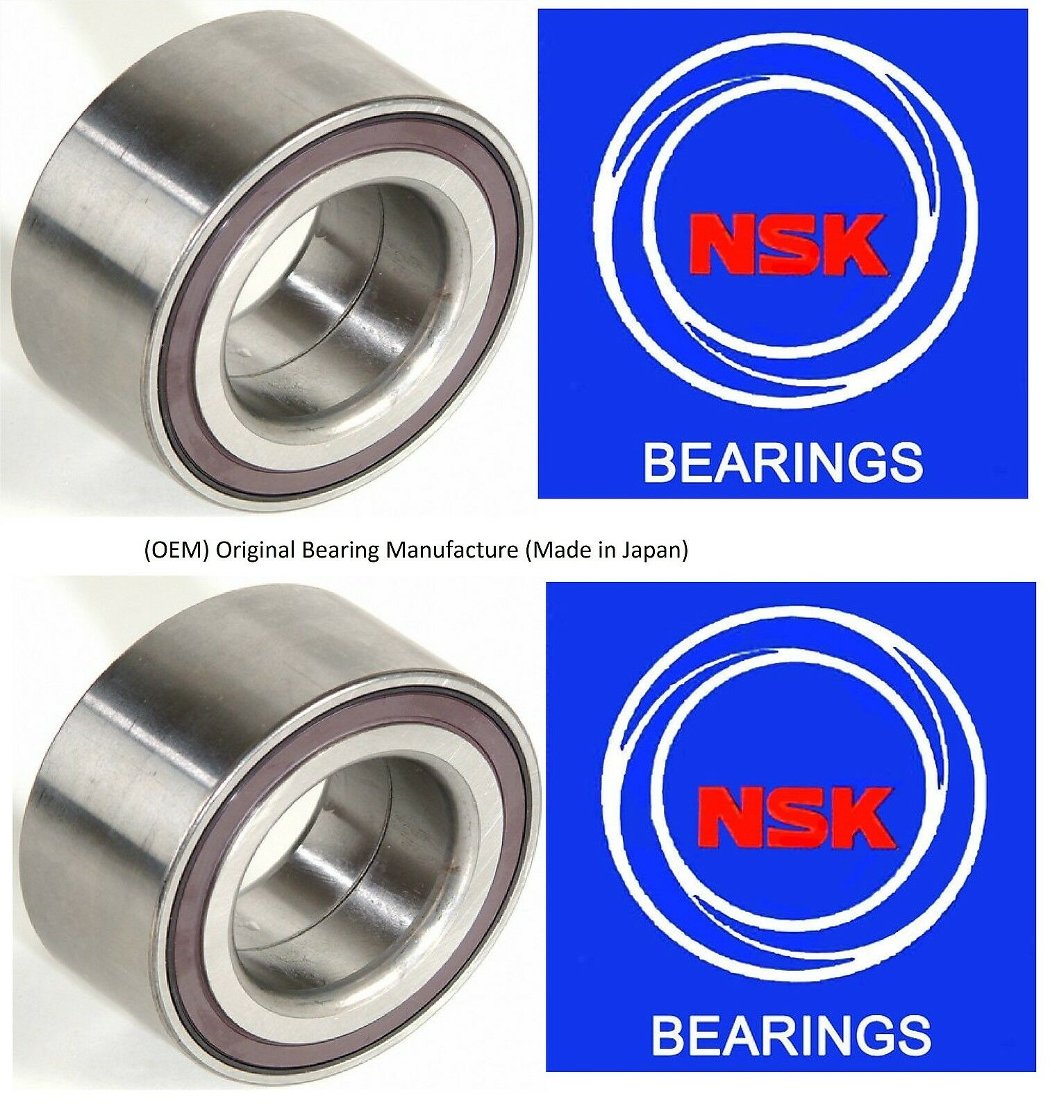 PAIR OEM NSK FRONT WHEEL HUB BEARING FOR 2009-2014 ACURA TSX