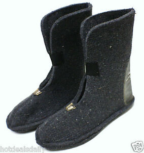HEAVY WOOL FELT WINTER BOOT LINERS PAIR BOYS SIZE 6 80%WOOL SNOWMOBILE SNOW