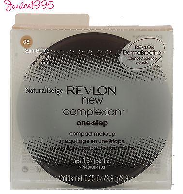 REVLON NEW COMPLEXION One Step Compact Makeup #08 SUN BEIGE