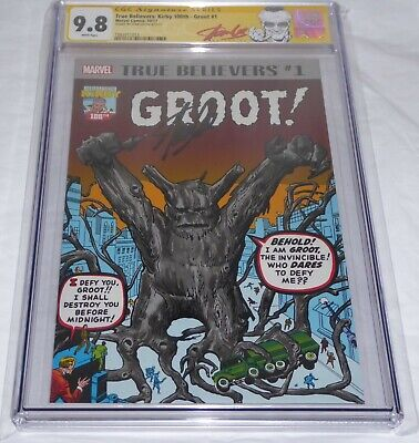 True Believers: Kirby 100th Groot #1 CGC SS Signature Autograph STAN LEE 9.8 🔥