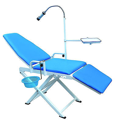 Dental Portable Folding Mobile Chair With Led Lamp Cuspidor Tray Us Stock