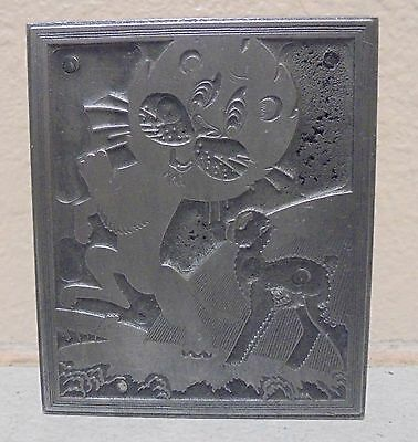 Vintage Printing Letterpress Printers Block Alien An Animal