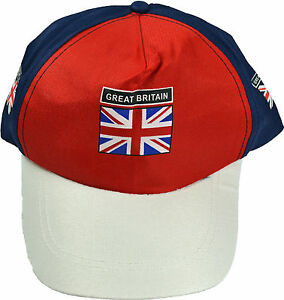 NEW ENGLAND BASEBALL CAP HAT FOOTBALL RUGBY UNION JACK GREAT BRITAIN MENS BOYS