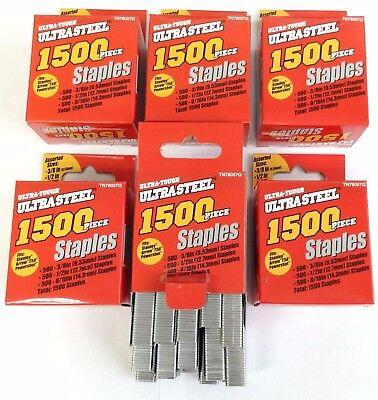 """9K Arrow T50 Stanley Powershot Staplers Assorted Staples 3/8"""", 1/2"""" & 9/16"""""""