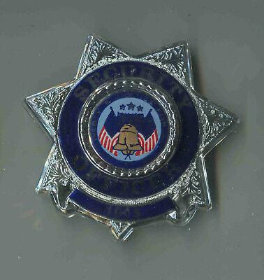 Officer Brust (USA:Polizei-Brustabzeichen Alte Art: Security Officer 1015 - Plastik)