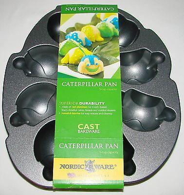 Nordic Ware Caterpillar Cake Cakelet Pan 5 Cup