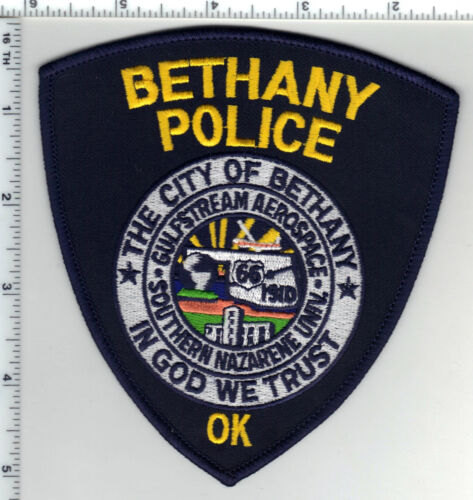 Bethany Police (Oklahoma) Shoulder Patch - new from the 1980