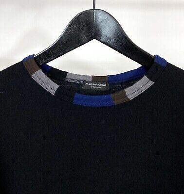 VTG COMME des GARÇONS HOMME PLUS Fits S Black/Multicolor Collar Wool Long Sleeve