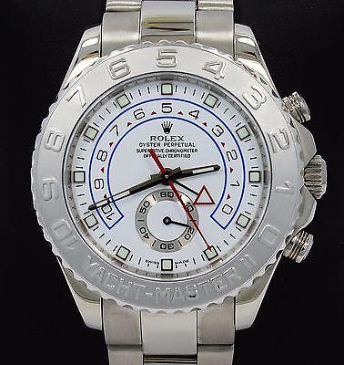 Rolex Yacht Master II 116689 Platinum Bezel 18K White Gold 44mm Watch BOX/PAPER