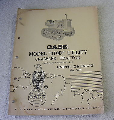 Ji Case 310d 310 D Utility Crawler Tractor Parts Manual