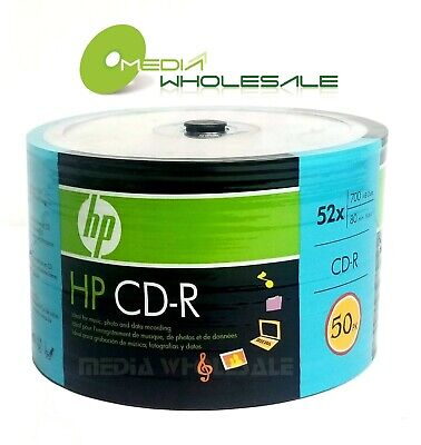 50 Hp CD-R CDR Discs Logo 52X 700MB 80MIN In ECO Spindle (Storage)