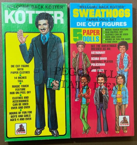 "THE TOY FACTORY ""WELCOME BACK KOTTER- SWEATHOGS & KOTTER"" SWEATHOGS SEALED"