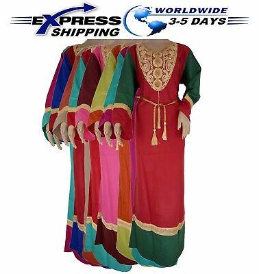 Egyptian Attire (Islamic Egyptian Cotton Abaya Galabeya Jilbab Dress Kaftan Muslim Galabya)