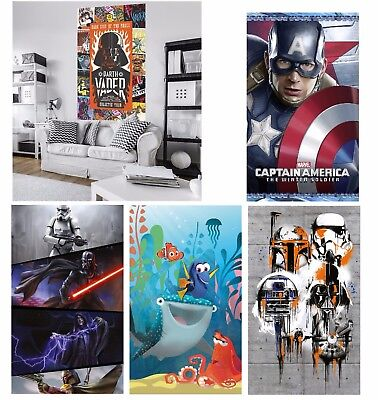 Wall Mural wallpapers KIDS & ADULTS ROOM poster style Star Wars AVENGERS Disney
