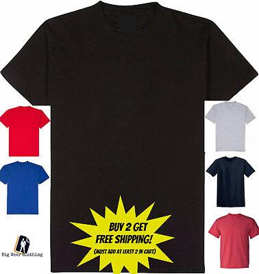 Big and Tall T-Shirts Plain 5XLT 6XLT 7XLT -
