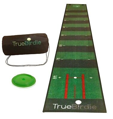 Indoor Putting Green and Golf Mat with Travel Bag + Putt Alignment (10ft x 16in)