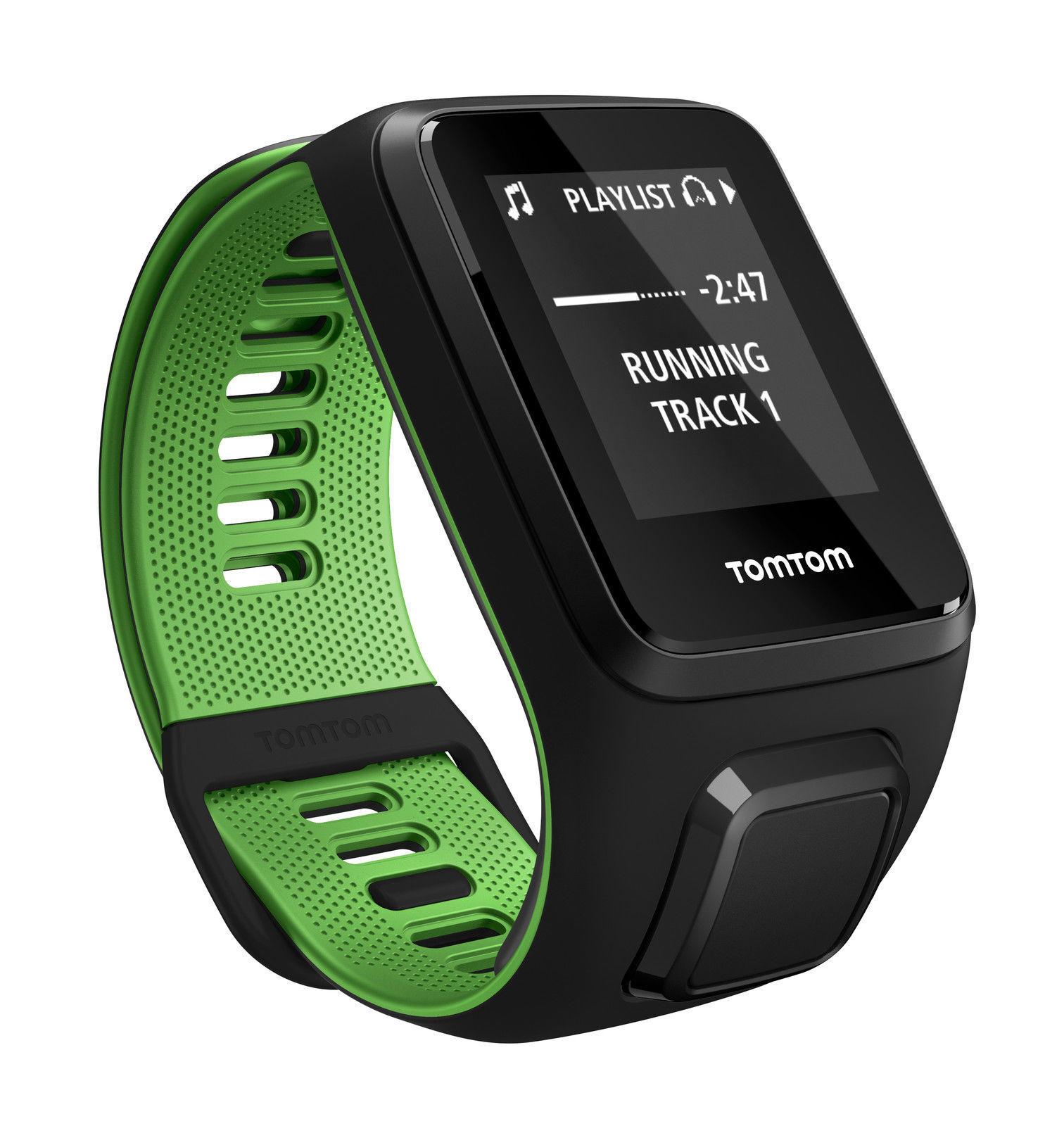 GPS & Sportuhren TomTom Runner 3 Cardio Sportuhr Large Schwarz günstig kaufen