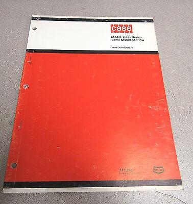 Case 7000 Series Semi Mounted Plow Parts Catalog Manual B1220 1974