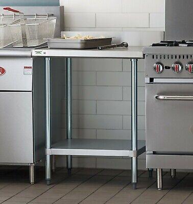 30 X 30 Work Prep Table Stainless Steel Undershelf Restaurant Backsplash