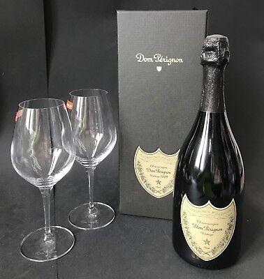 Dom Perignon Vintage 2008 Champagner 0,75l Flasche+ 2 Spiegelau Gläser 12,5% Vol