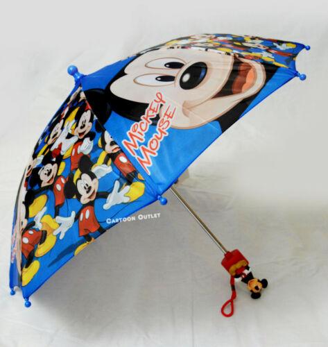 DISNEY MICKEY MOUSE 3D FIGURE HANDLE KIDS UMBRELLA LITTLE BOYS OR GIRLS GIFT NEW