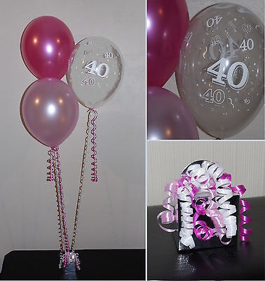 40th  Birthday Balloons - DIY Party Decoration Kit  Clusters For  5  - 15 Tables