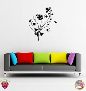Details About Wall Sticker Flower Romantic Decor For Bedroom Or Living