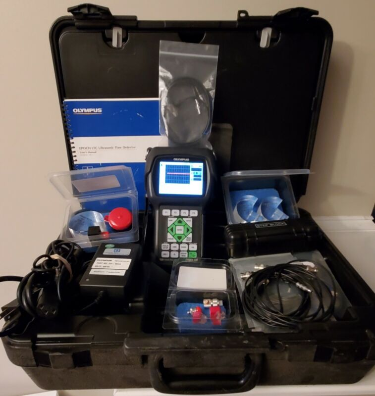 NDT Olympus EPOCH LTC Ultrasonic Flaw Detector, Plus a Lot of Good Extras