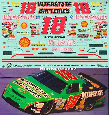NASCAR DECAL #18 INTERSTATE BATTERIES 1996 MONTE CARLO BOBBY LABONTE SLIXX