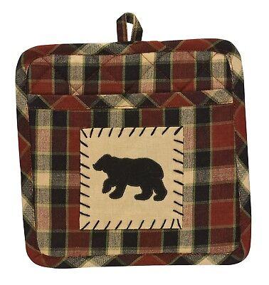 Patch Pocket Pot Holder - Concord Black Bear by Park Designs - Kitchen Dining -