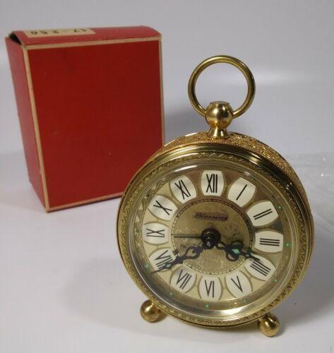 Vintage Blessing West Germany Brass Alarm Clock