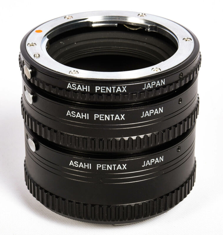 Pentax Extension Tube Set #1,2,3 (Manual), for Pentax K Mount