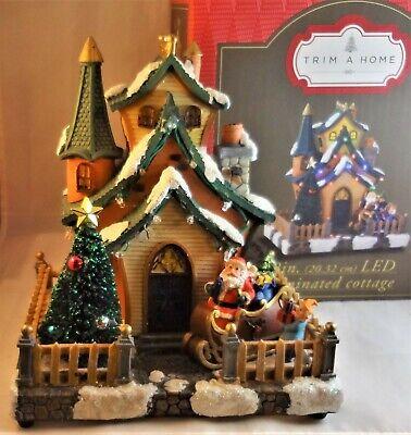 Trim A Home LED ILLUMINATED COTTAGE Christmas Village House Musical