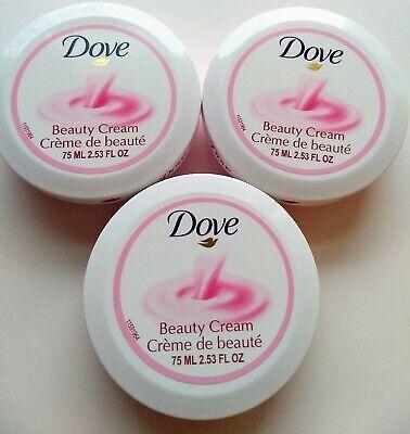 Dove Beauty Body Lotion (3x Dove Beauty Cream Super Soft Daily Skincare Lotion New 2.53 FL oz each )