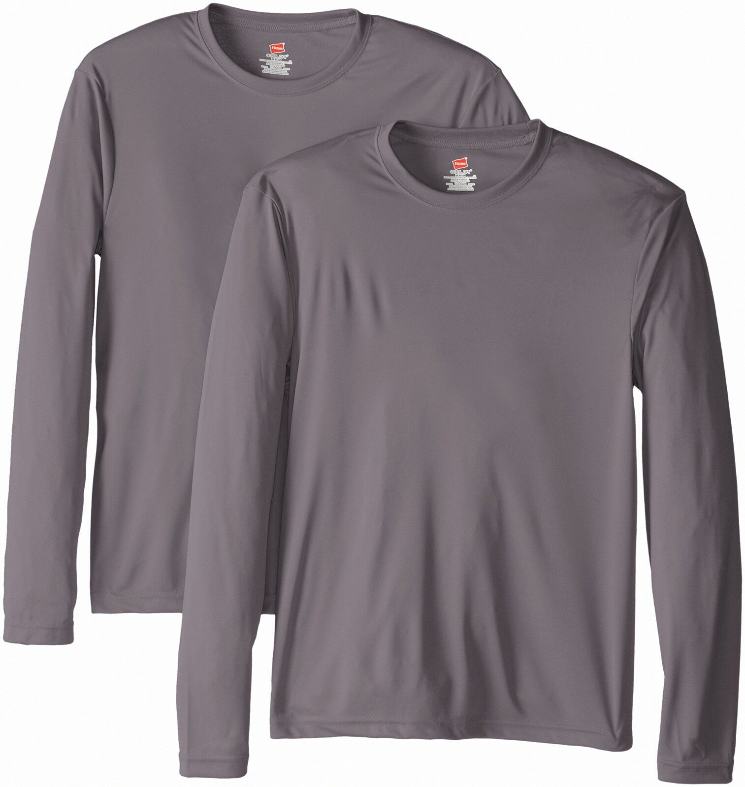 Hanes Men's Long Sleeve Cool Dri T-Shirt UPF 50+, X-Large, 2