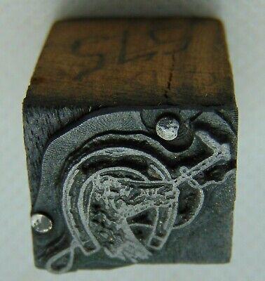 Vintage Printing Letterpress Printers Block Horse Shoe Horse Head