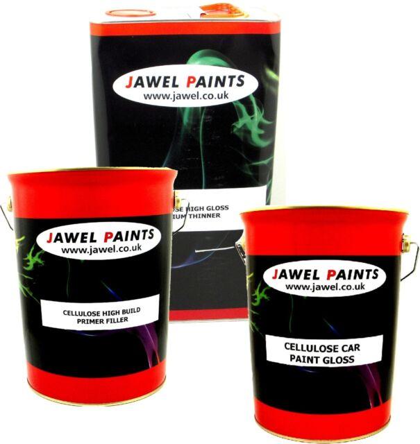 Cellulose Car Paint  ANY COLOUR 15 Litre Kit 5lt Paint 5lt Thinner 5lt Primer
