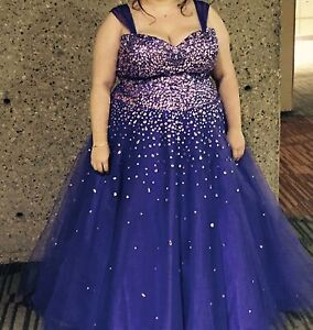 Beautiful plus size grad dress for sale
