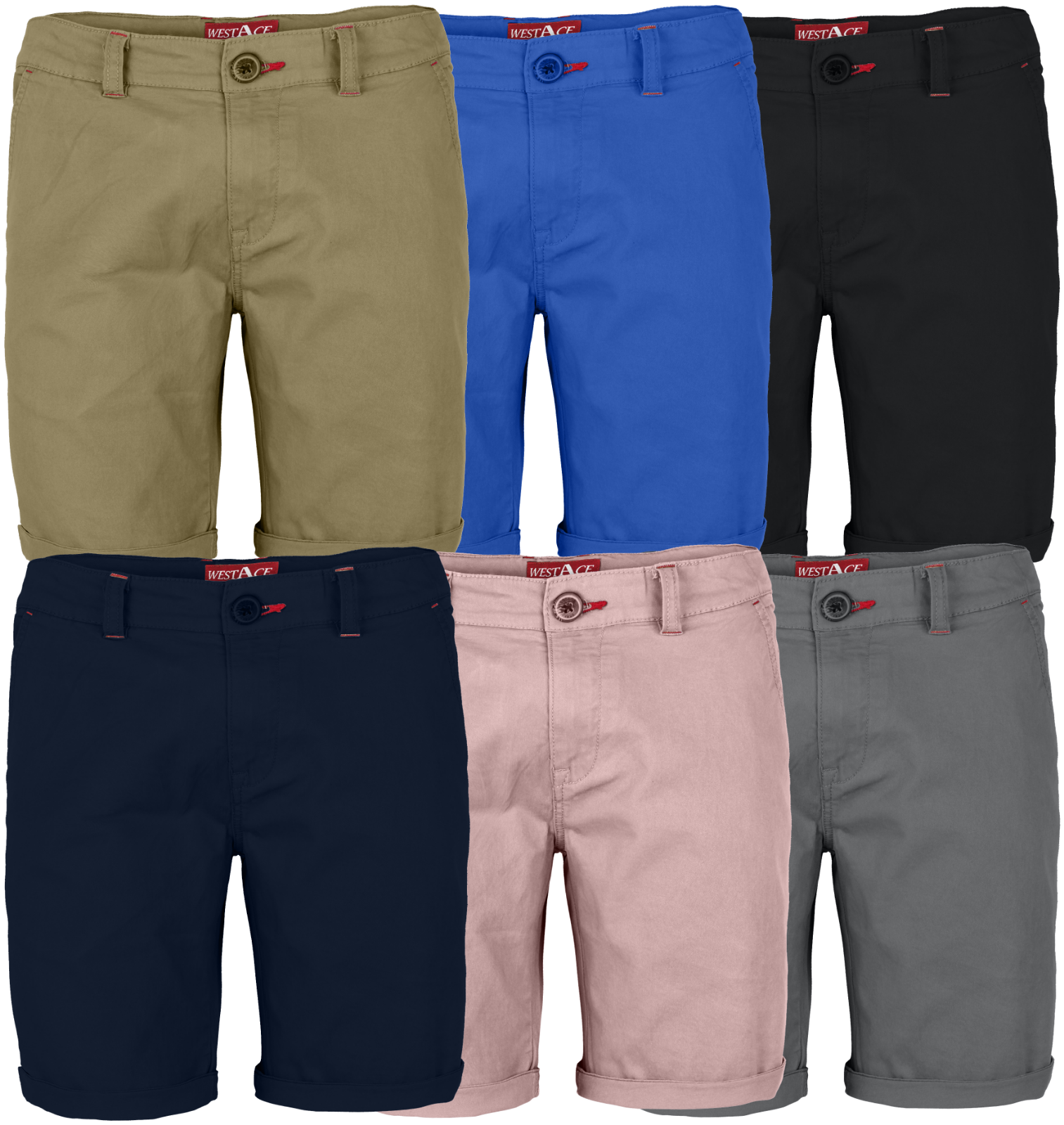 Mens Stretch Shorts Casual Wear Chino Flat Front Slim Fit Half Pants Clothing, Shoes & Accessories