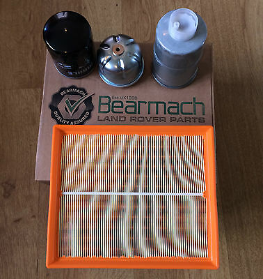 BEARMACH LAND ROVER DISCO 2 TD5 FULL SERVICE KIT, OIL,AIR & FUEL FILTERS BK14dis