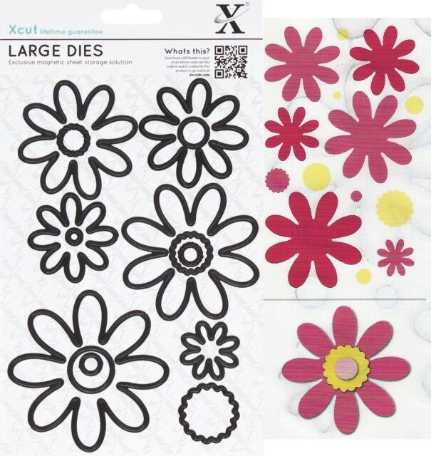 DOCRAFTS XCUT LARGE PETAL POSY DECORATIVE FLOWERS CUTTING DIES SET - NEW