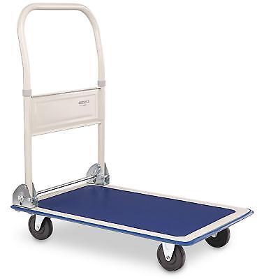 150 Kg Folding Platform Hand Trolley Cart Warehouse Sack Flat Bed Transport