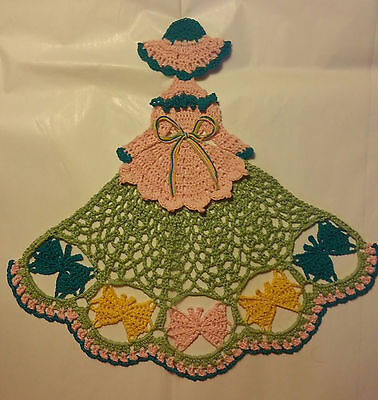 Crochet Crinoline Lady Doily - Butterflies