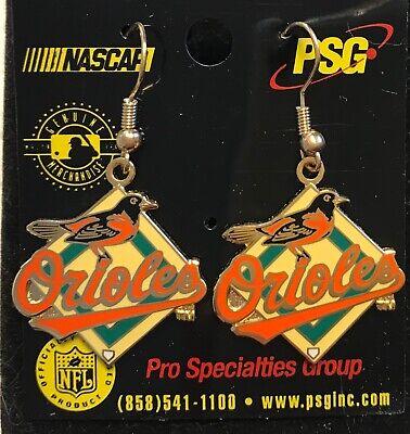 Baltimore Orioles Primary Logo J Hook Dangle  Earrings NEW Primary Logo Earrings