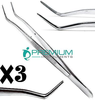 3 Dental Foilmeriam Serrated Tweezer 16cm Dressing Surgical Cotton Pliers