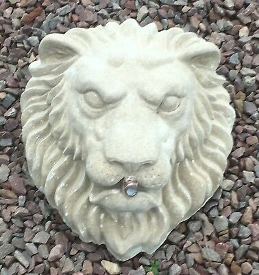 Lion Head Water Feature / Cast Cotswold Stone / Christine Baxter