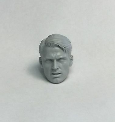 Marvel Legends Captain America  1:12 Scale Custom Sculpt Steve Rodgers Head (Steve Head)