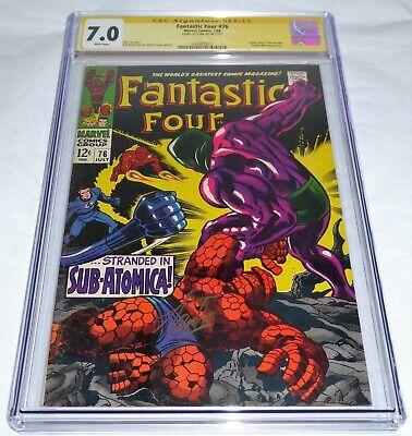 Fantastic Four #76 CGC SS Signature Autograph STAN LEE Silver Surfer Galactus 🔥