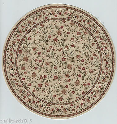 1:12 Scale Dollhouse Round Floral Area Rug 0001012 - approximately 8""